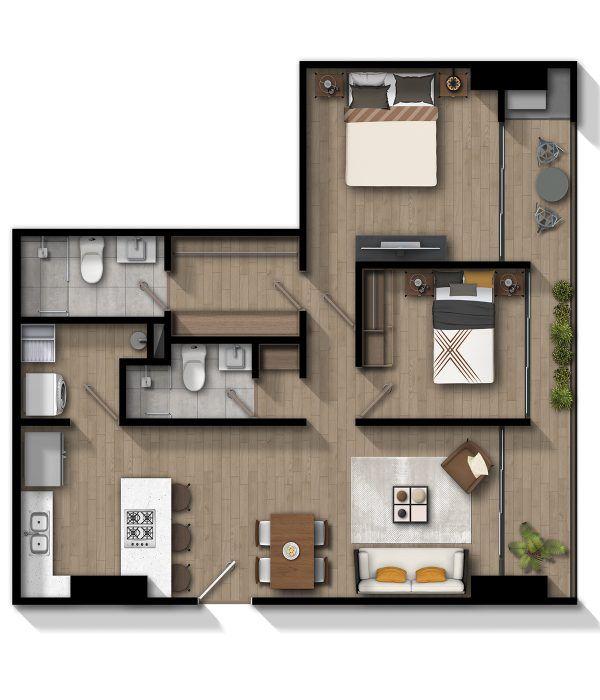 Apartamento D - Norte