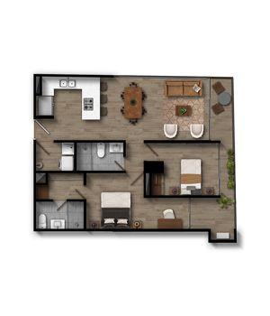 Apartamento 2.2 Infinita (Plataforma)